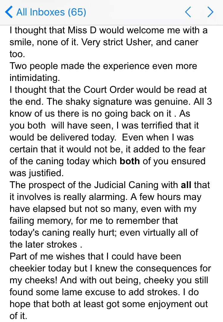 Judicial caning by miss stricktland - 3 1